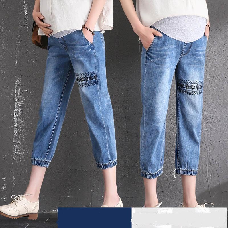 2deff7bce8b 2019 Jeans Maternity Clothing Pants For Pregnant Women Clothes Nursing  Trousers Pregnancy Overalls Denim Short Prop Belly Legging New From  Orchidor