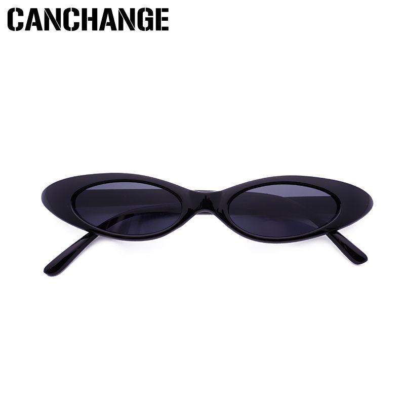 e8cfafd67a4da Compre CANCHANGE Marca Designer Oval Óculos De Sol Das Mulheres Do Vintage  90 S Cat Eye Sunglasses Pequeno Quadro Senhoras Óculos De Sol Oculos De Sol  De ...
