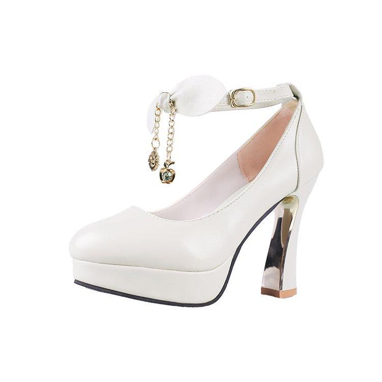 9f2b33fd467 Spring Fall Women Super Platform High Heel Pumps Bowtie Tassel ...