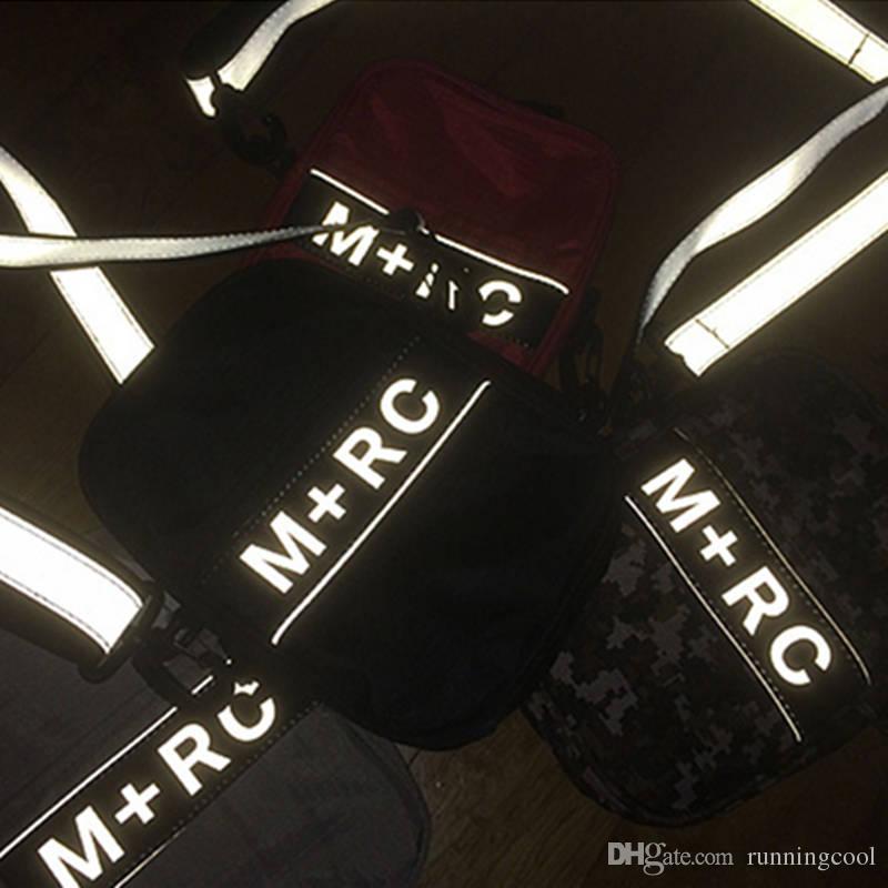 e8e36bbdb3ae New M+RC NOIR RR Cross Body Bags 3M Reflective Shoulder Bag Storage Bag  Outdoor Bags Men Canvas Mobile Phone Packs Messenger Bags