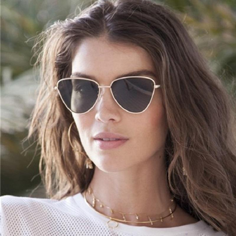 6ca16005777 2019 Vintage Sexy Lady Cat Eye Sunglasses Women Fashion Clear Red Cateye  Eyewear Metal Frame Sun Glasses For Female UV400 Fastrack Sunglasses Smith  ...