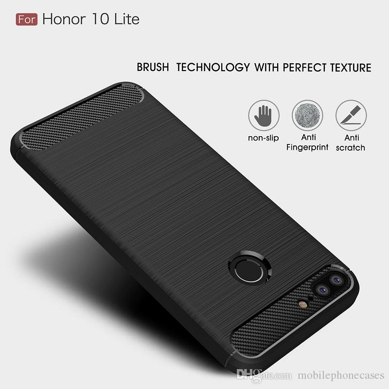 Wholesale CellPhone Cases For Huawei honor10 Luxury Carbon Fiber heavy duty case for Huawei honor10 Lite cover
