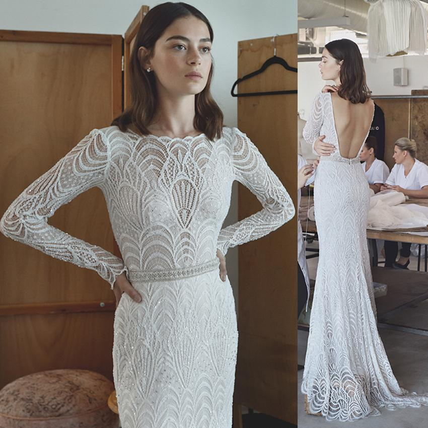 Long sleeve lace wedding dresses real photo sheath illusion full long sleeve lace wedding dresses real photo sheath illusion full sleeve sequin beaded shinny high quality bridal gown sheath wedding dress lace sheath junglespirit Choice Image