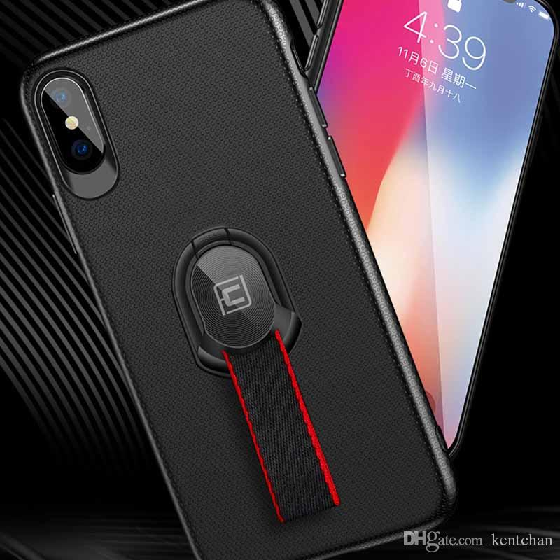 Creative design braided band ring bracket case For iPhone X and bracket with car magnet multi-purpose