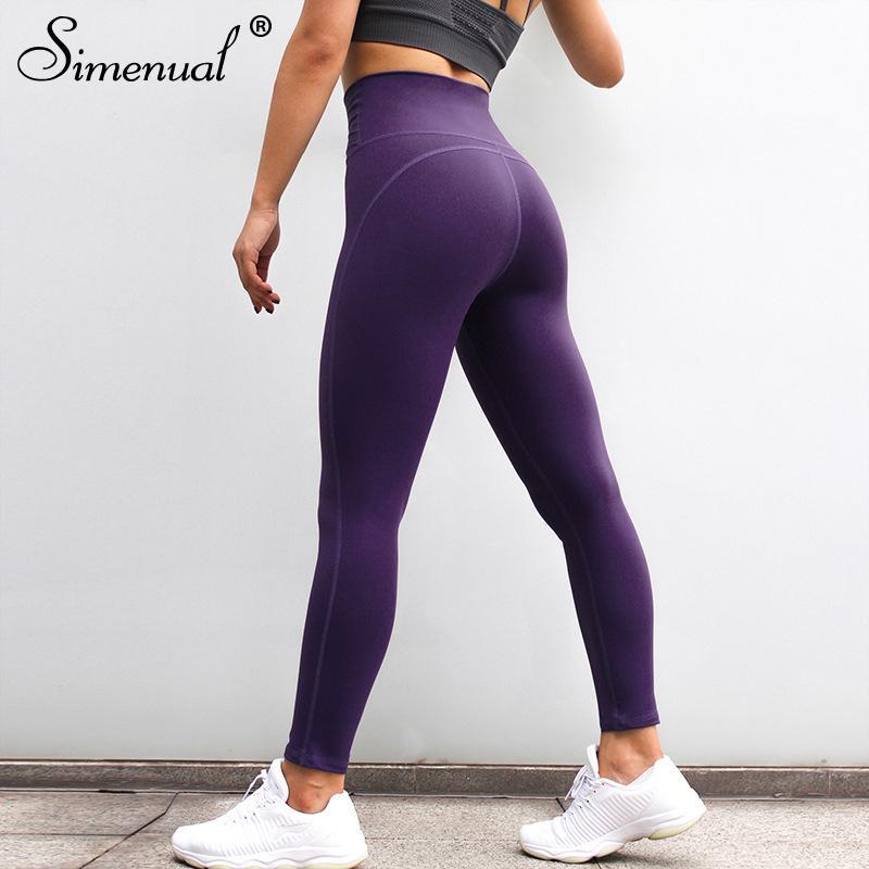 Acheter Simenual Push Up Leggings Taille Haute Pour Fitness Polyamide  Legging De Bonne Qualité Femmes Sportswear Athleisure Jegging Respirant De   24.48 Du ... d76fa69c5f6