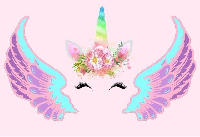 2018 7x5FT Light Pink Wall Unicorn Wings Mask Head Custom Photo Background Backdrop Vinyl 220cm X 150cm From Backdropsupplier 1207