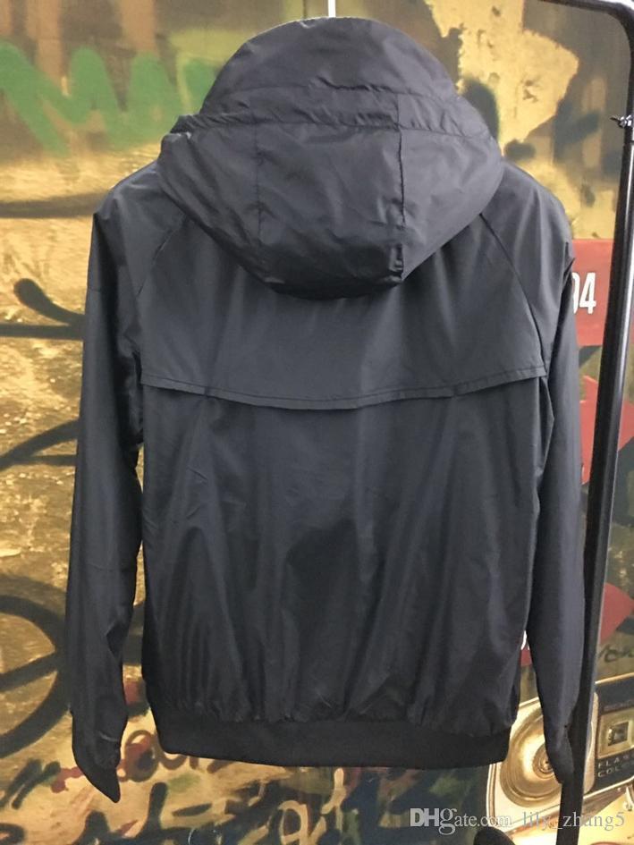 Men Spring Autumn Windrunner jacket Thin Jacket Coat,Men sports windbreaker jacket explosion Black models couple clothin Men's