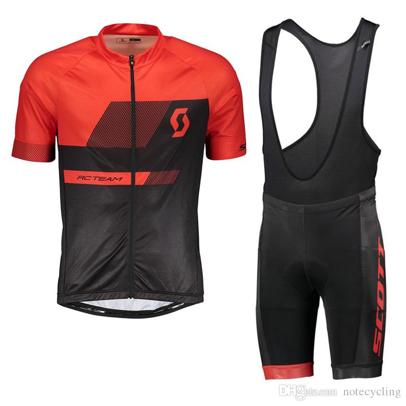 74a550e51af1 2018 NEW SCOTT Cycling Jersey bib shorts Suit Short Sleeve Ropa De Ciclismo  Breathable Cycling Clothes Set Bike Wear Gel Pad 100401Y