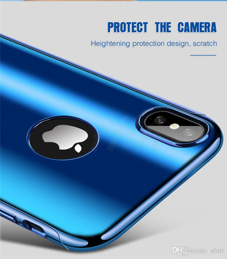 Neue 360 Grad Ganzkörper Galvanisieren Überzug Spiegel Harte PC handy Fall-abdeckung Für iPhone X 8 7 6 6 S Plus mit gehärtetem Glas Bildschirm