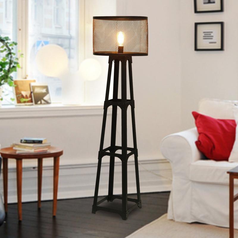 2019 Modern Tirpod Floor Lamp Eiffel Tower Standing Lamp Iron Art ...