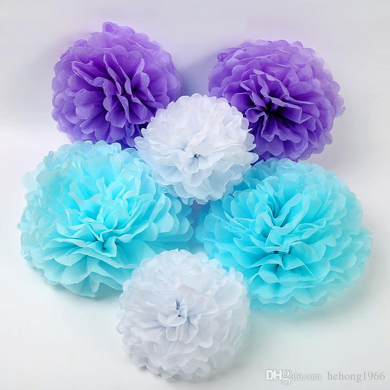 Paper Simulation Flowers Ball Tissue Mix Color Wedding Party Home Decoration Christmas Birthday Stage Prop Artificial Flower 3 51hz9 V