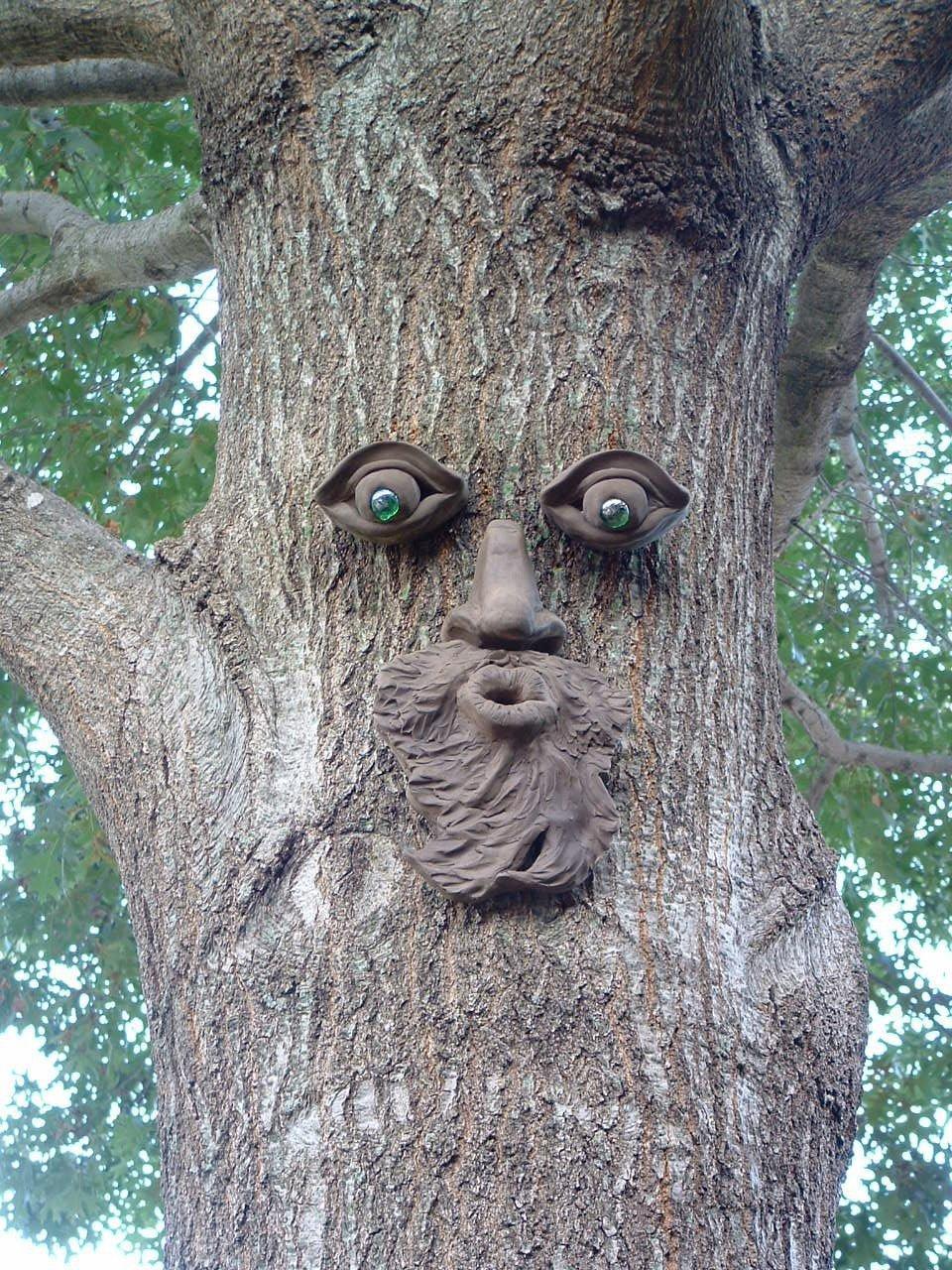 Großhandel Garten Dekoration Baum Gesicht Zement Handwerk Garten