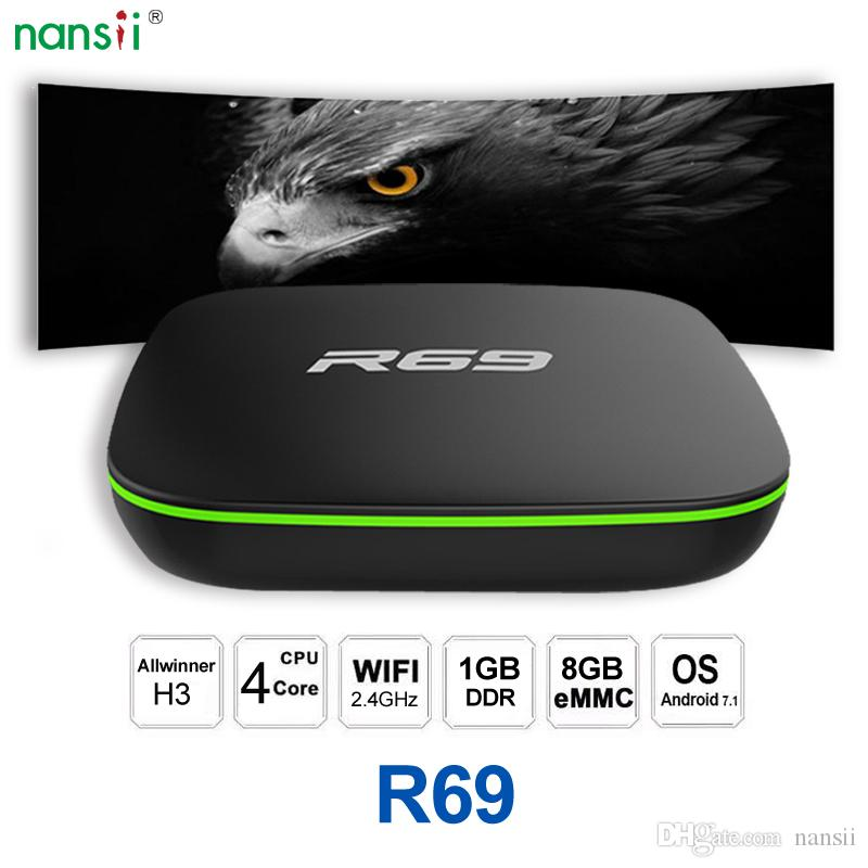 R69 Android 7.1 TV-Box WiFi Allwinner H3-TV-Box android 1 GB RAM 8 GB ROM Quad Core Set-Top-Box 4K Media Player