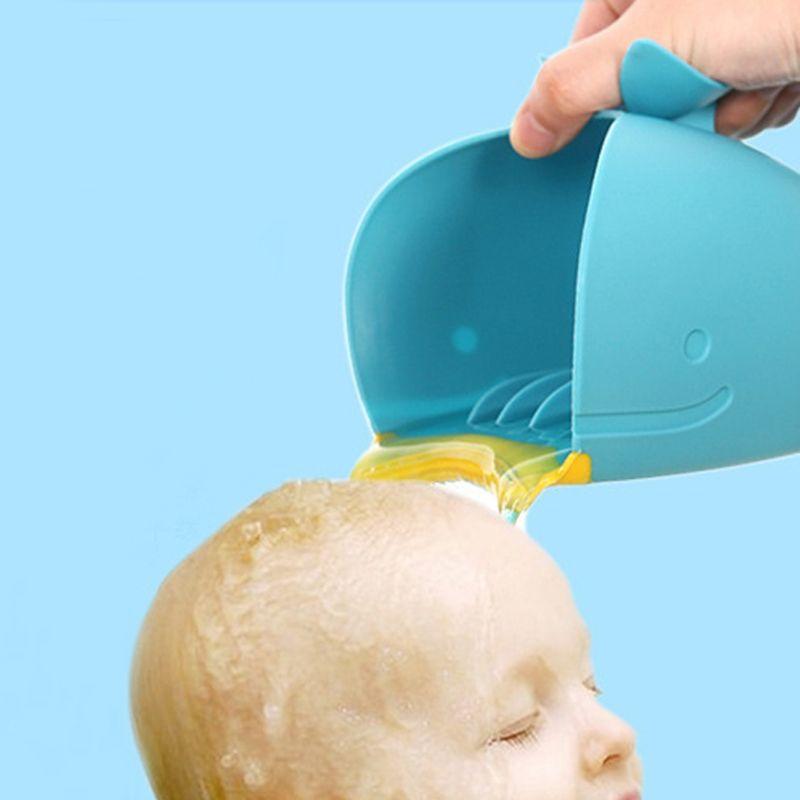 Baby Bath Cap Kids Washing Hair Shampoo Cartoon Whale Cup Children ...