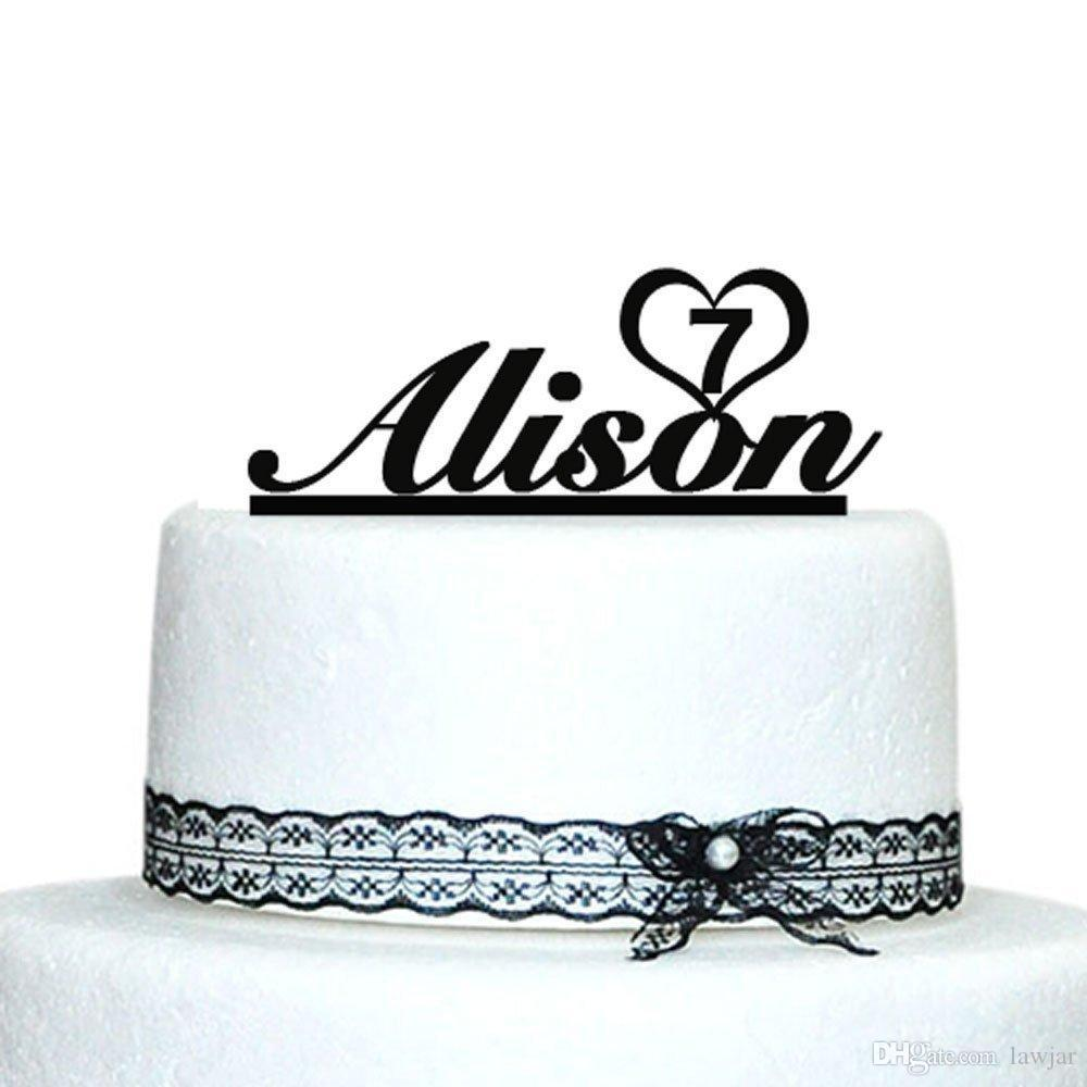2019 Wholesale Birthday Cake Topper Custom Name Personalized Baby Shower Decoration Casamento From Lawjar