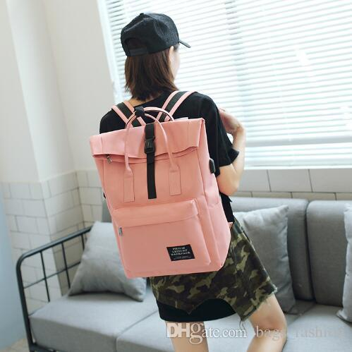 New 2018 Women Girls Backpack USB Charging Nylon Backpacks School Bags For Teenagers  Girl Mochila Feminina Students Satchel Jansport Backpacks School Bags ... 673813deba02d