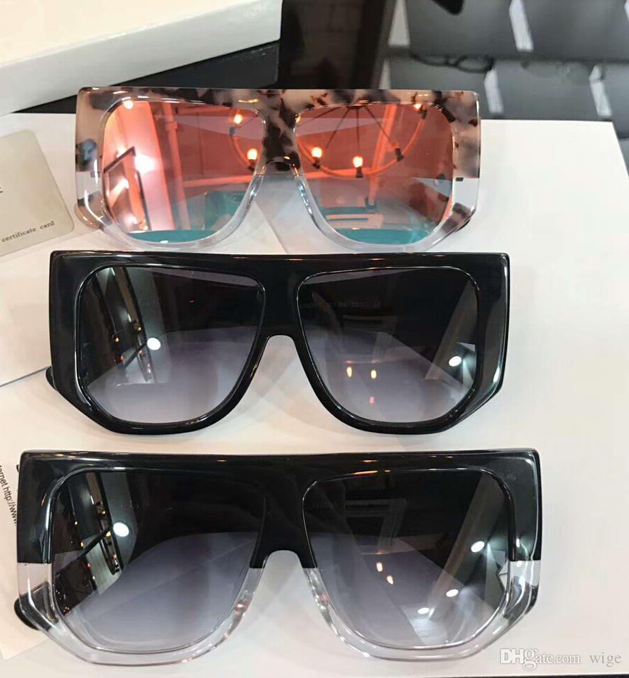 7c90ea6807 Compre Las Mujeres De Gran Tamaño Rectángulo Gafas De Sol Gafas De Sol Negro  / Gris Shade Diseñador De La Marca Gafas De Sol Gafas De Sol Gafas Nueva  Caja ...
