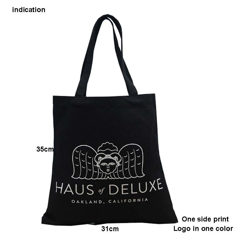 4c5f87e0c Size 35*31cm Canvas Cotton Tote Bag Customized Logo Fashion Women Eco Bag  For Company Advertising University Activity Cloth Grocery Bags Top Bags  From ...