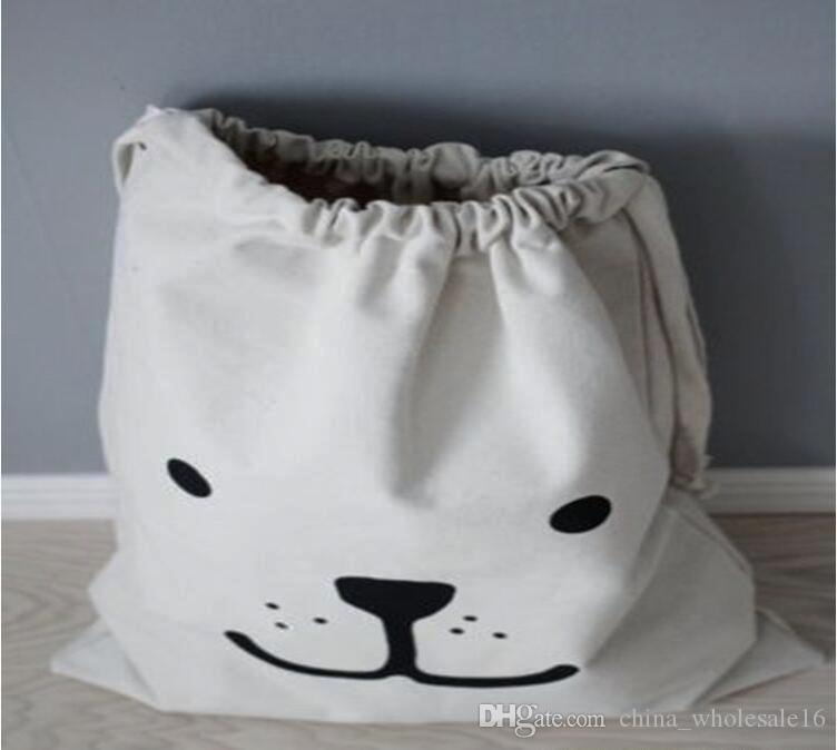 Wholesale Large Baby Toys Storage Bags Canvas Bear Batman Laundry Hanging Drawstring Bag Household Pouch Bag Home Storage Organization