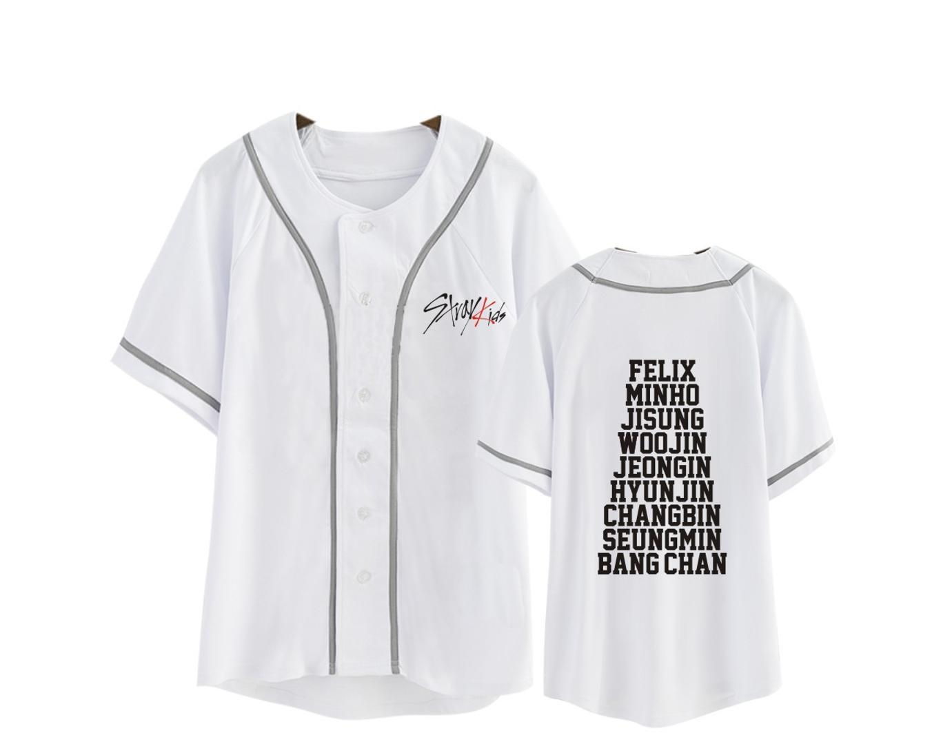 a345b48c443c8 Kpop Stray Kids Moleton Tshirt Women Men Cotton White Baseball T Shirt  Harajuku Top Short Sleeve T Shirt Best Tee Shirt Sites Online Funky T  Shirts From ...