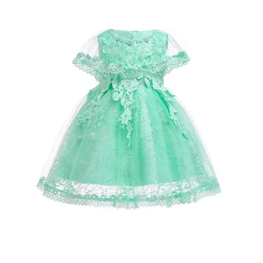 5622fe87a17d 2019 6M 24M Infant Dresses 2018 New Arrival Mint Green Baby Dress For 1  Year Girl Birthday Formal Toddler Princess Gown From Fragranter