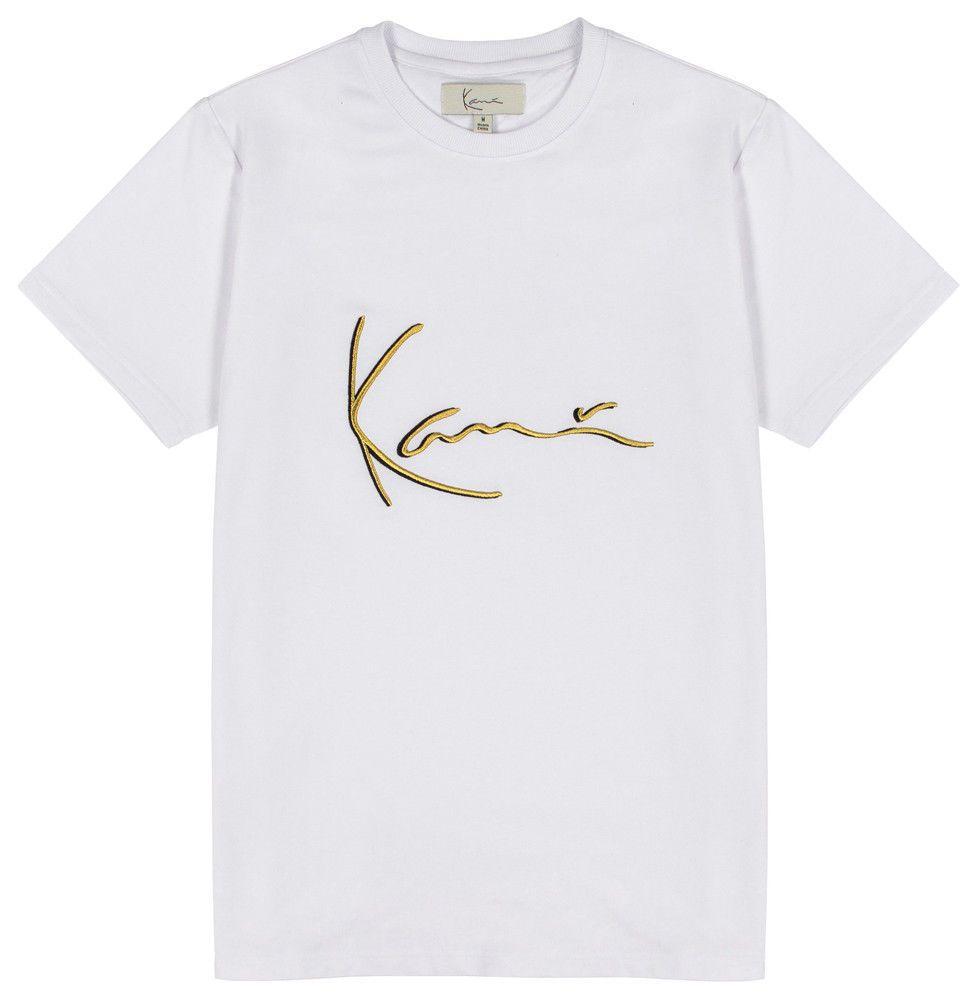 e3ac5f2abd8c1 KARL KANI ICONIC SIGNATURE T SHIRT WHITE EMBROIDERED TEE MENS 90s FASHION T  Shrt Fun T Shirt From Twistedenvy