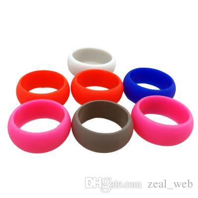 Favor de la fiesta de silicona anillo de bodas movimiento anillos redondos anillos deportivos anillo de goma de silicona 9mm camo color sólido