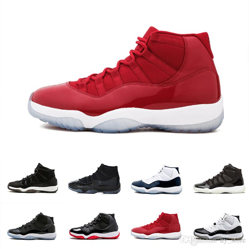 7fcc06e2f315 2018 Prom Night 11 XI 11s Black Out PRM Heiress Black Stingray Gym Red  Chicago Midnight Navy Space Jams Men Basketball Shoes Sports Mens Loafers  Designer ...