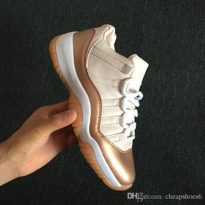 8cce3a69cfc Kids Big Boy Shoes 11s Low Rose Gold Easter Emerald Basketball Shoes Mens  Womens Kids 11s Sports Sneakers Wholesale Drop Ship 36 47 Sport Shoes For  Children ...