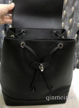 2018 verão europeu e americano senhoras da moda mochila tampa do ombro sacos LOCKME bolsa de ombro duplo para mulheres mochila de couro M41815