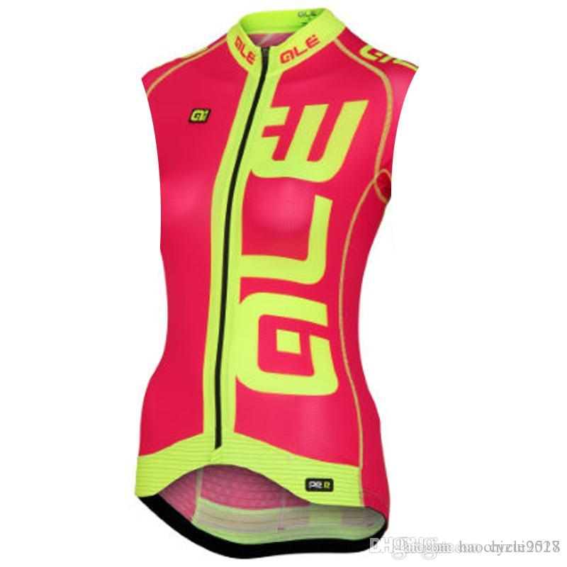 84bc54f54 ALE 2018 Pro Team Women Cycling Jersey Vest Summer Sleeveless ...
