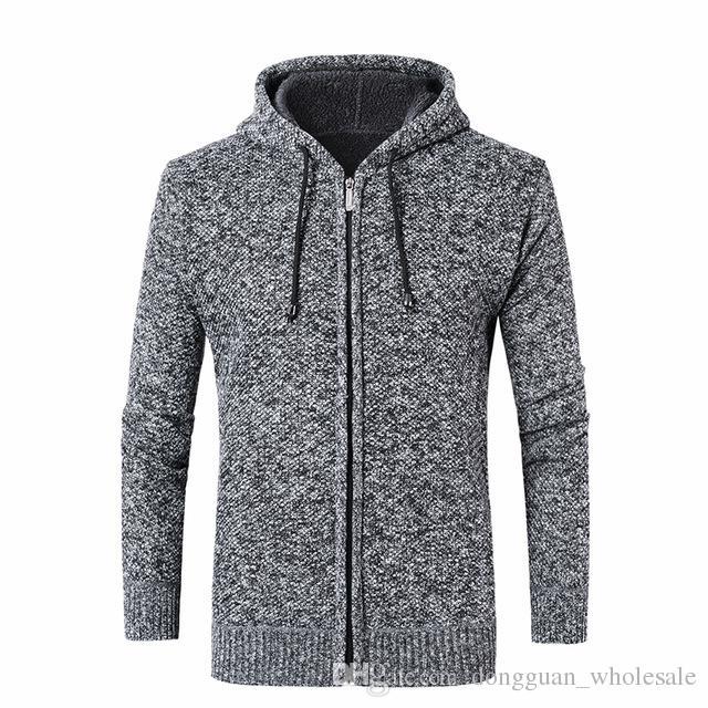 f674581d34de Männer Pullover Mantel Herbst Winter Herren Kapuzenjacke Mantel und  verdickte Mens Pullover 2018 Cardigan Masculino männlichen Kleidung