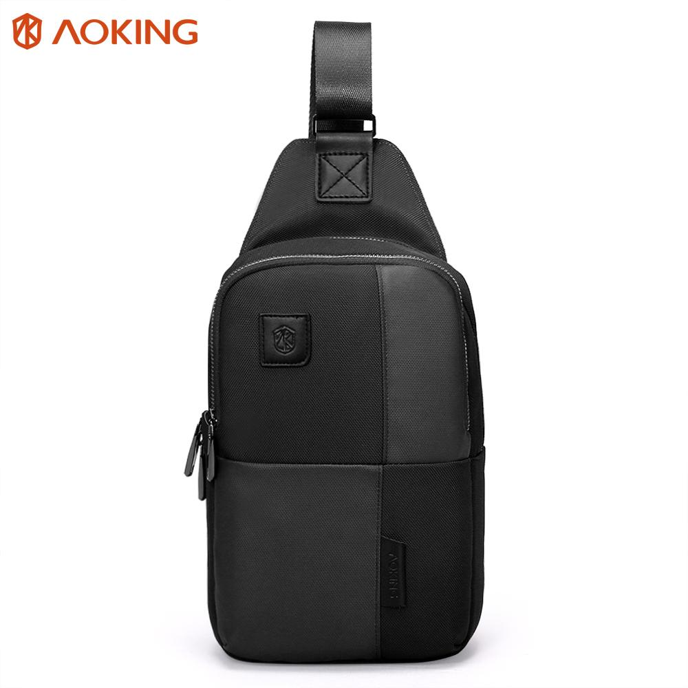 4ef33d7458 Aoking 2017 Theftproof Zipper Sling Bags Functional Mens Chest Bags Stylish  Waterproof Travel Crossbody Bag Man Shoulder Bag Crossbody Bags Messenger  Bags ...