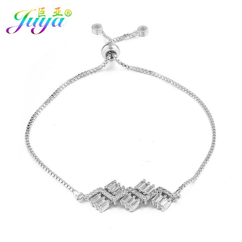Dropshipping Customized Jewelry Bracelets Handmade Adjustable Chain  Bracelets DIY Craft Geometric Charm For Women Men