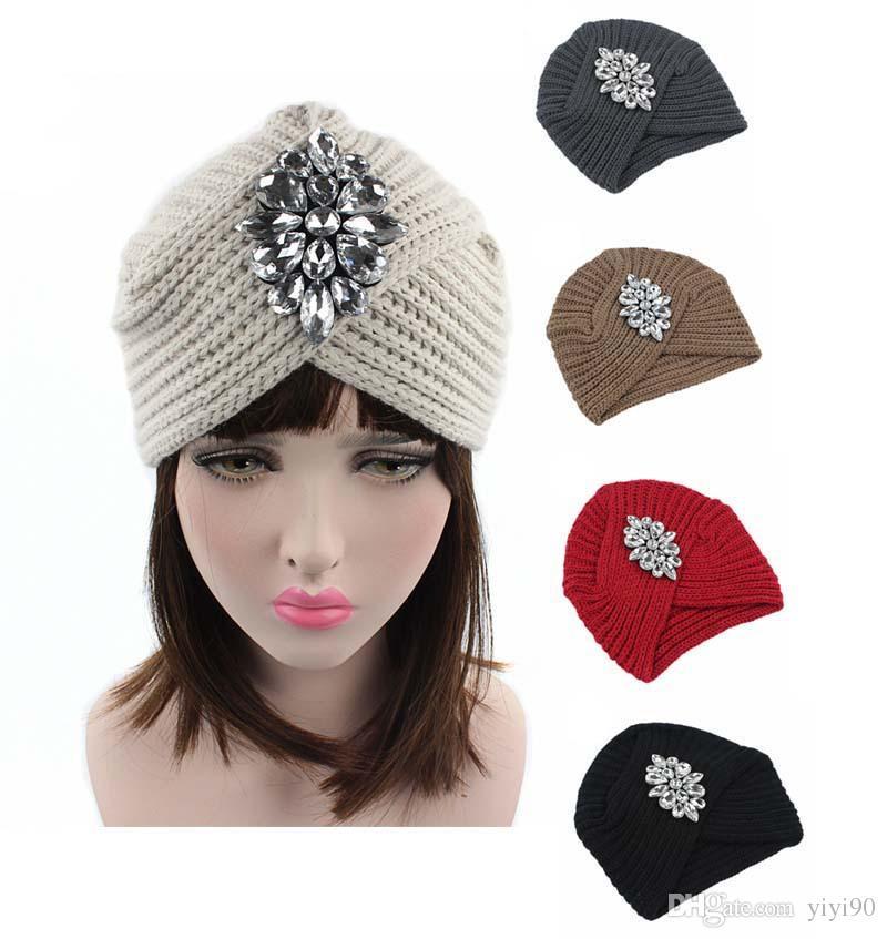 New Muslim Winter Hat Warm Knit Wool Cap Beanie Sleep Chemo Turban Headwear Cancer  Patients Hair Accessories Snapback Hats Cowboy Hats From Yiyi90 f2a134d2b42