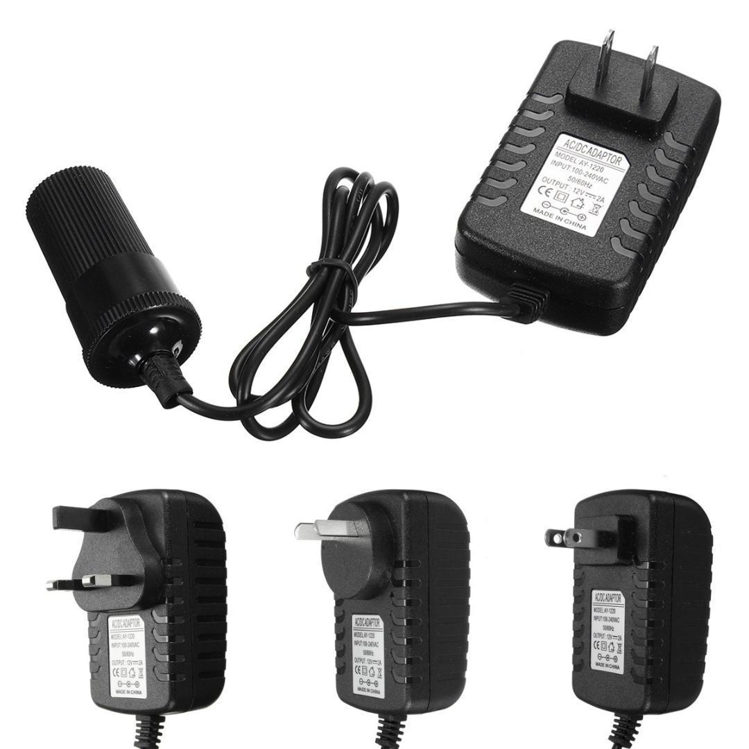 2018 Kroak Ac 100 240v To Dc 12v 2a Au Us Uk Eu Plug Car Charger Inverter Power Adapter Cigarette Lighter Socket From Bestliner 2226