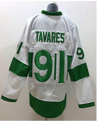 2018-19 New Toronto Team #91 John Tavares 100th Anniversary Vintage Mens Ice Hockey Uniforms Shirts Sports Cheap Jerseys Stitched Embroidery