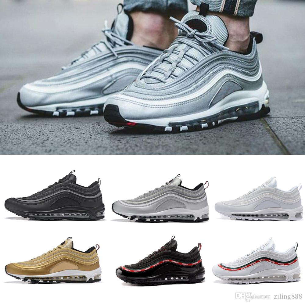 97 shoes Og Triple white Running shoes OG Metallic Gold Silver Bullet Pink Mens trainer Women sports sneakers discount outlet locations outlet for cheap gT0znTr