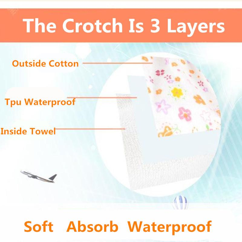Washable Baby Cloth Diaper Cover Waterproof Cartoon Baby Diapers Reusable Cloth Nappy Training Pants Underwear