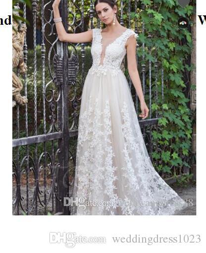 Gauze Round Collar Lace Appliques A-Line Wedding Dress