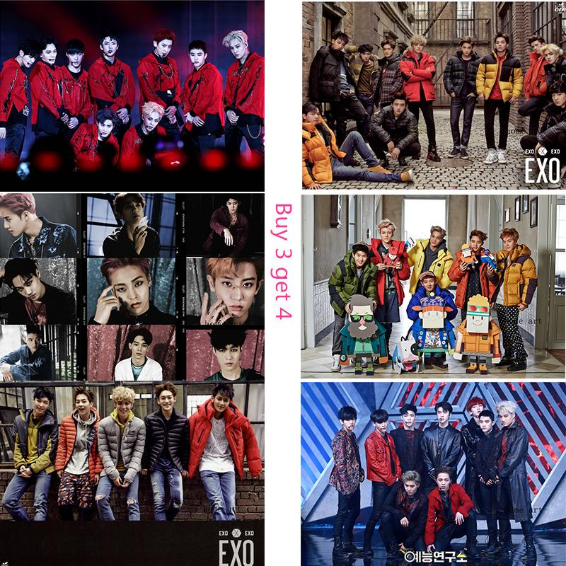 Exo Korean Band Posters Wall Stickers Decoration Good Quality Prints