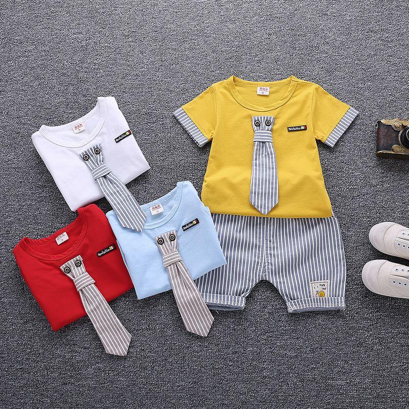 2018 2018 New Summer Baby Boy Kids Clothes Set Children Clothing ...