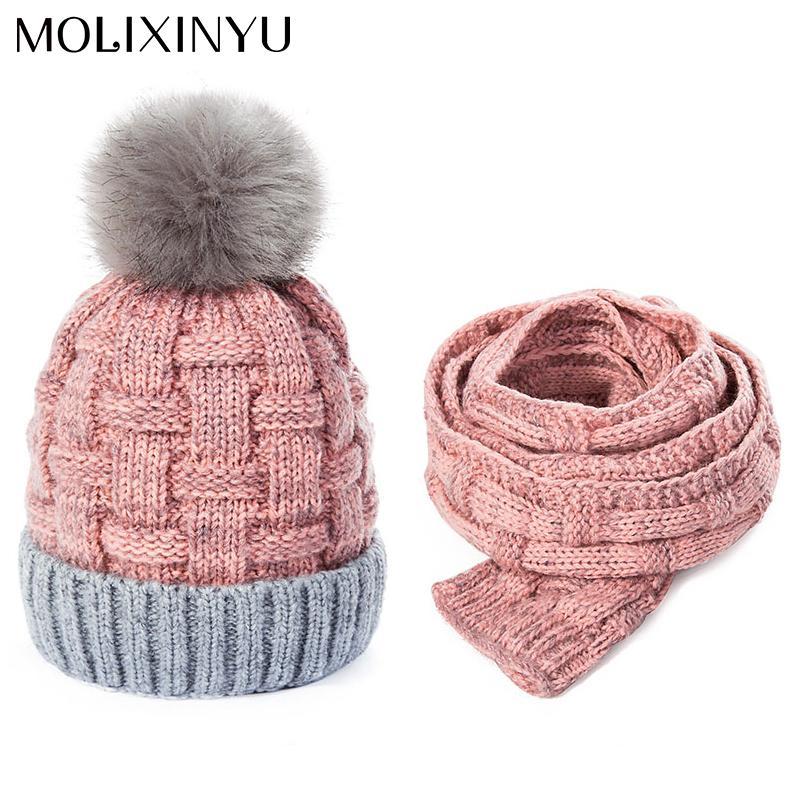 Großhandel Molixinyu Baby Winter Warme Häkelarbeit Hüte Schals Kind ...