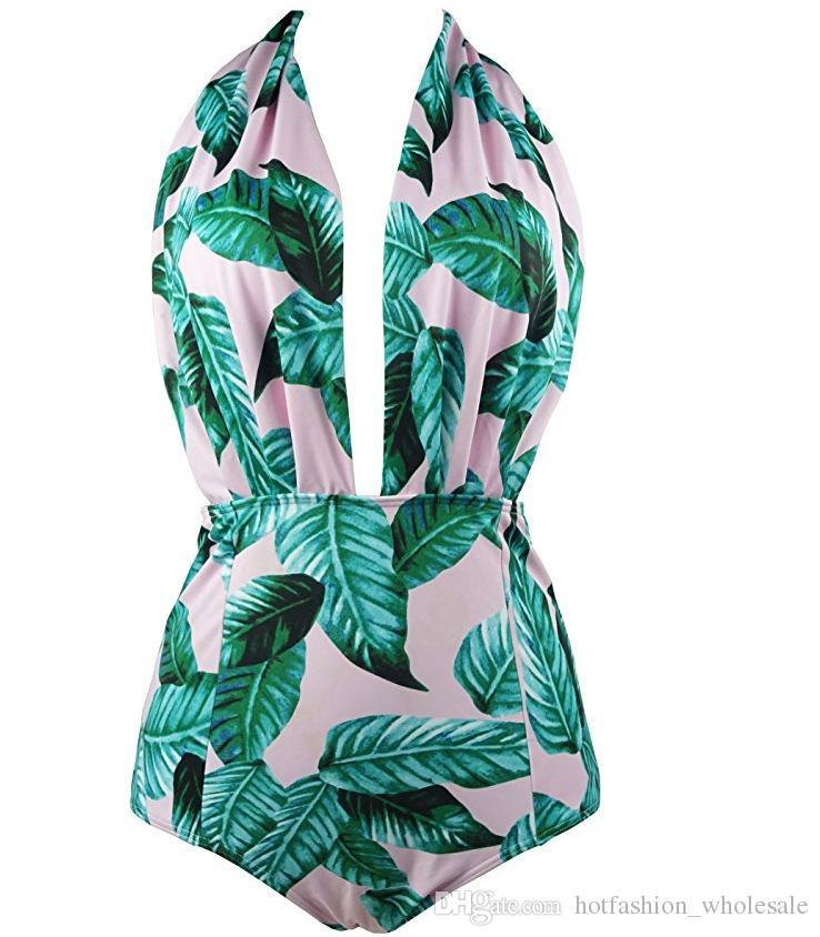 Sexy One Piece Swimsuit bikini Wholesale Latest Floral Printed Swimwear Women Swimming Suits Bathing Swim Wear