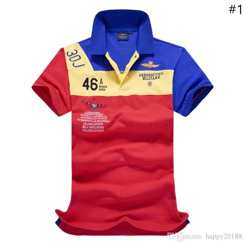 0d4d6ef05e0f9 Compre Air Force Homens Um Puro Algodão De Manga Curta Homens Lapela POLO  Camisas Para Camisas Masculinas. De Happy20188