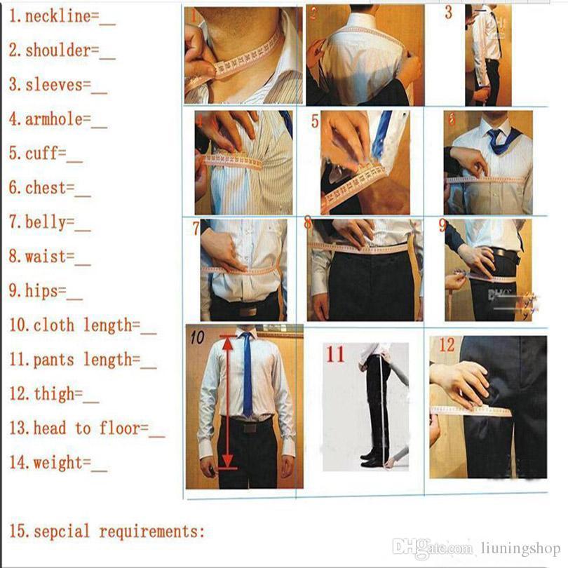 CALDO - Nuovo design Colletto verticale Fascino nero Uomini Groomsmen da sposo Abiti in smoking da sposa giacca + pantaloni + cravatta + gilet NO; 287