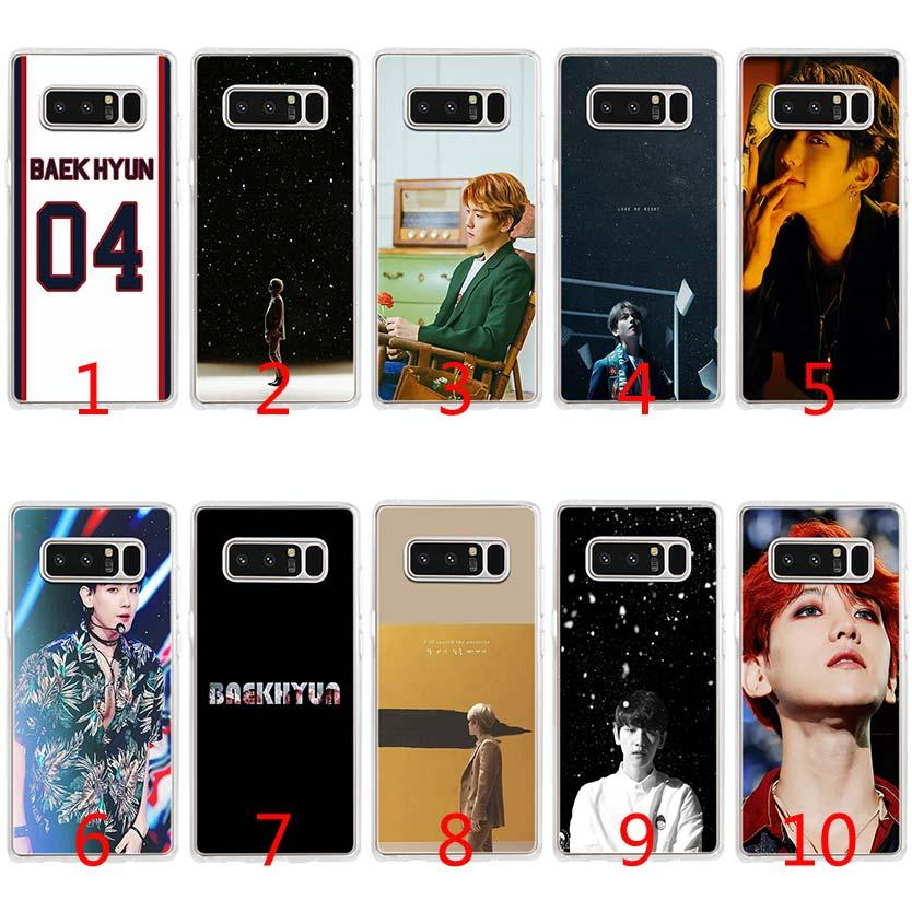timeless design 37b15 8ac44 Baekhyun EXO Soft Silicone TPU Case for Samsung S7 Edge S8 Plus S9 Plus  Note 9 8 Cover
