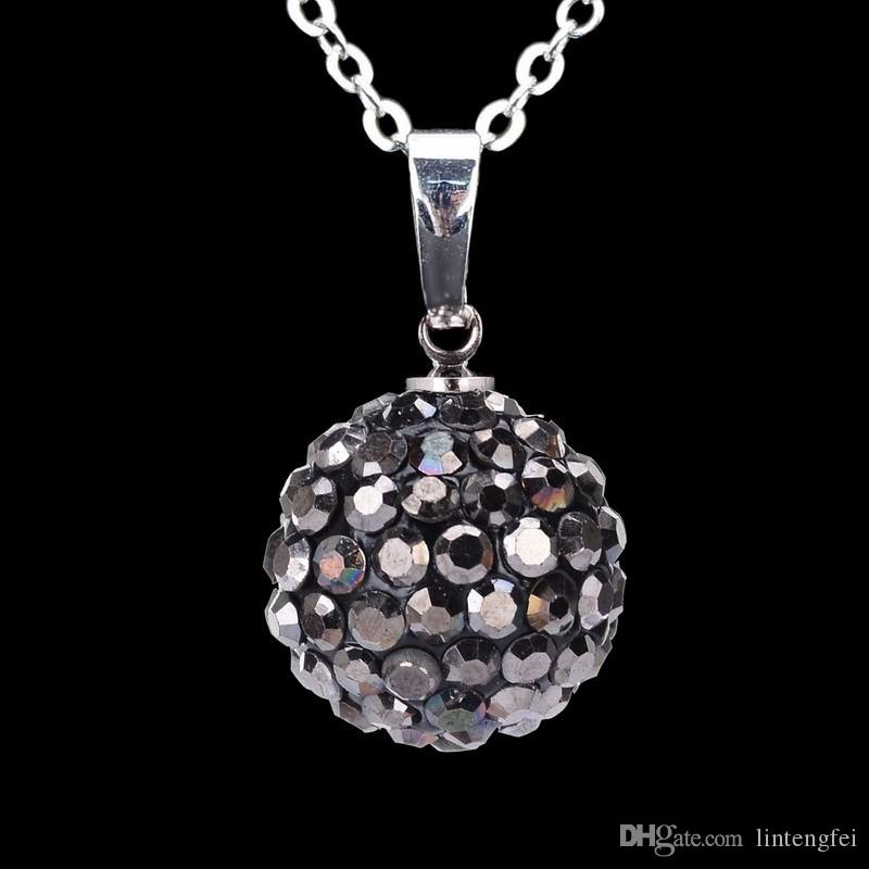 Collana rotonda sferica del pendente di vendita calda, collana di modo d'argento