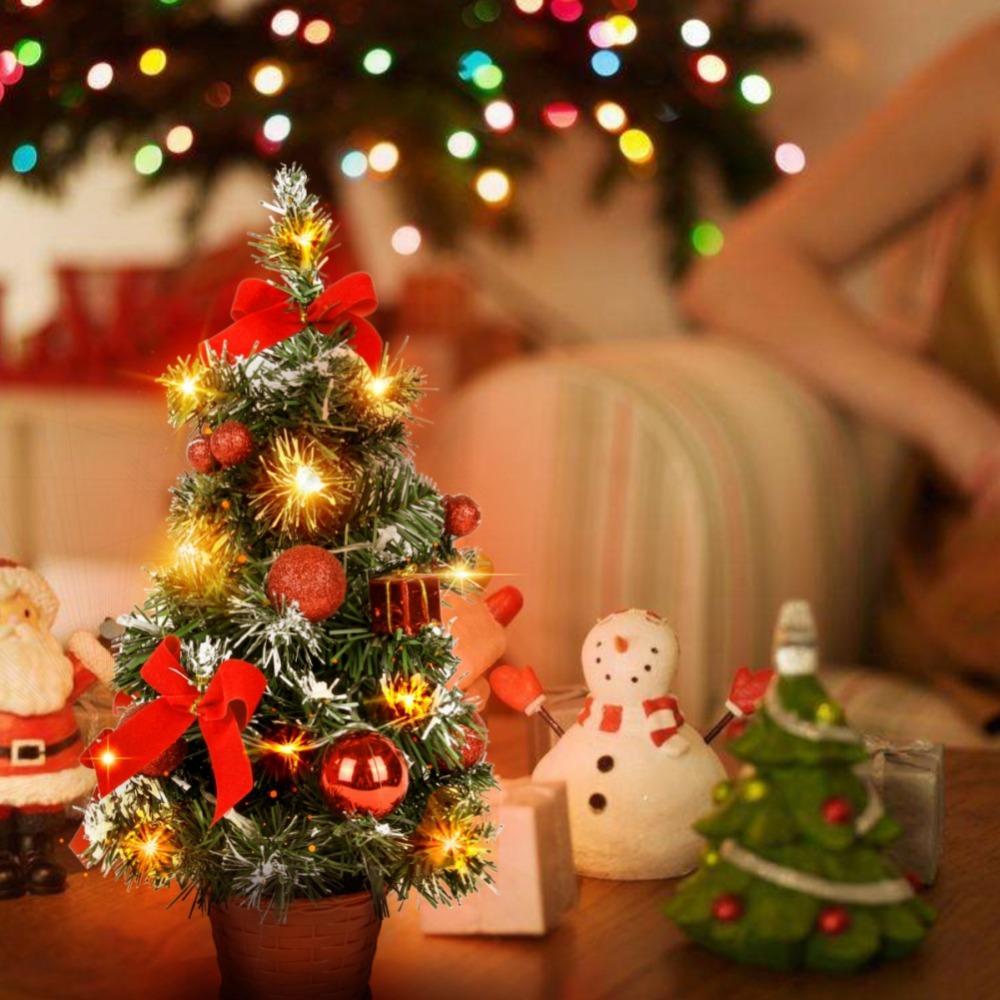 Mini Weihnachtsbaum Mit Batterie.Batteriebetriebene Luxus Tabletop Weihnachtsbaum Mini Künstliche Dekoration Urlaub Hängen Kiefer Batterie Nicht Im Lieferumfang Enthalten