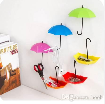 Colorful Umbrella Wall Hook Key Hair Pin Holder Organizer Holder Wall Hook Hanger HOT Room Decorative